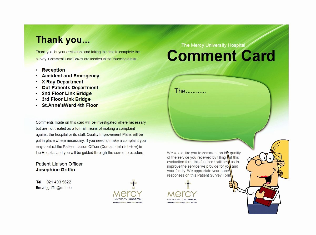 Comment Card Template Word New 50 Printable Ment Card & Feedback form Templates