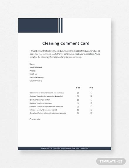 Comment Card Template Word New Free 10 Ment Cards In Illustrator Ms Word