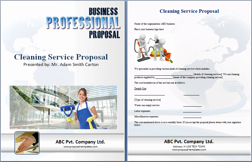 Commercial Cleaning Proposal Template Free Elegant Cleaning Proposal Template