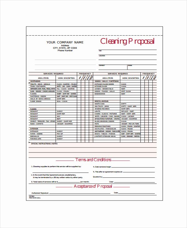 Commercial Cleaning Proposal Template Free Fresh Mercial Hvac Proposal Template Templates Resume