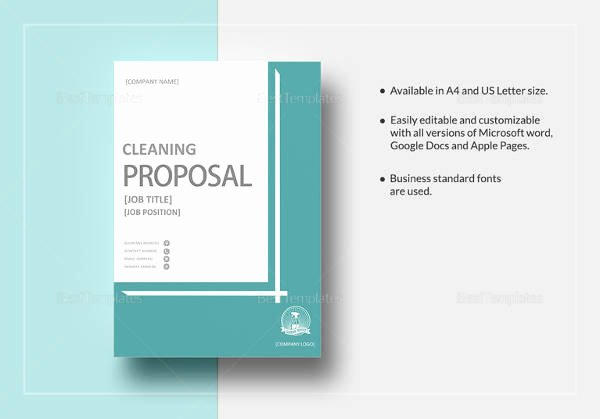 Commercial Cleaning Proposal Template Free Unique 16 Cleaning Proposal Templates Pdf Word