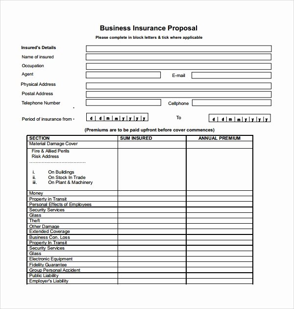 Commercial Insurance Proposal Template Beautiful Sample Insurance Proposal Template 13 Free Documents In