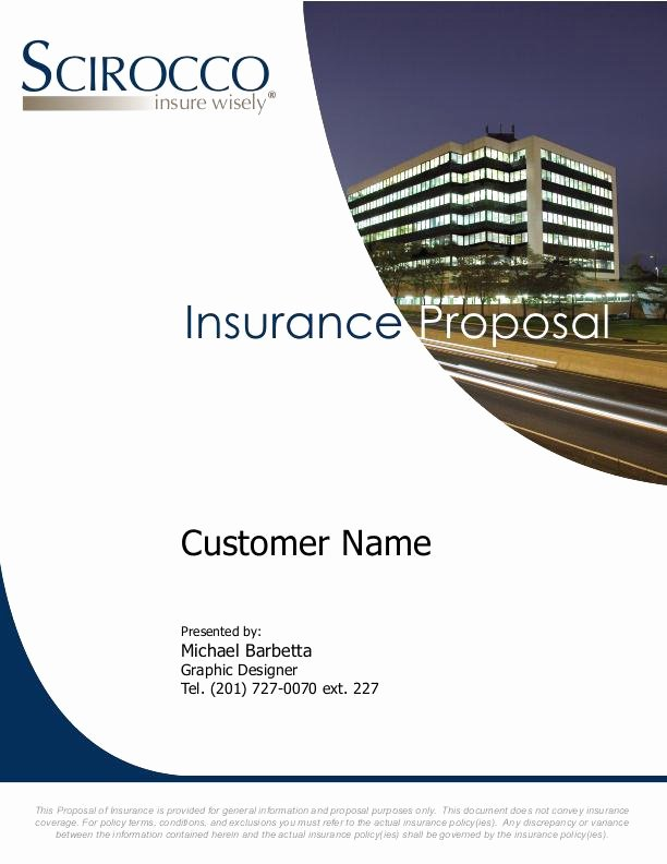 Commercial Insurance Proposal Template Best Of Corporate Work by Mike Barbetta at Coroflot
