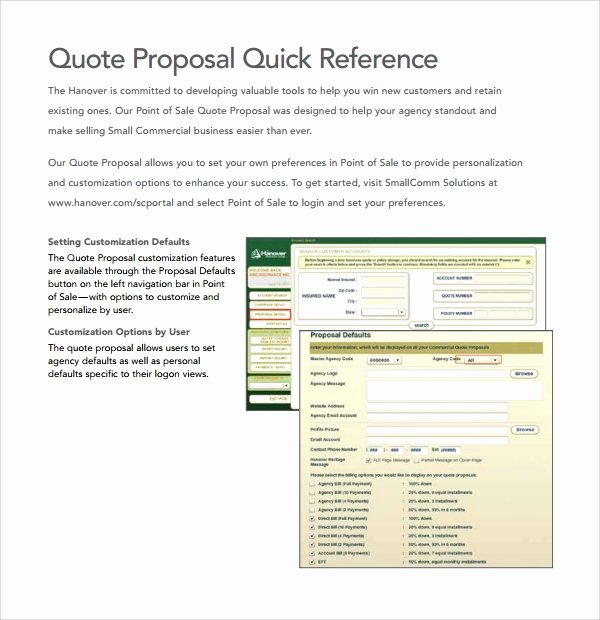 Commercial Insurance Proposal Template Best Of Sample Quote Proposal Template 9 Free Documents In Pdf