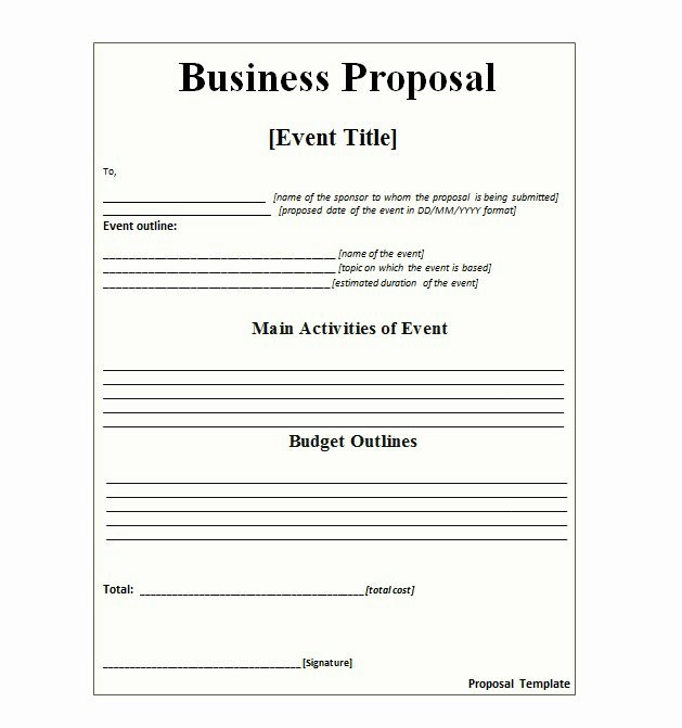 Commercial Insurance Proposal Template New 30 Business Proposal Templates & Proposal Letter Samples