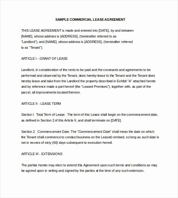 Commercial Lease Proposal Template Beautiful 17 Lease Template Doc Pdf