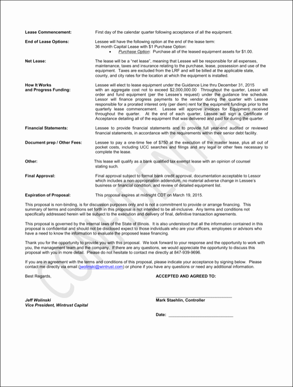 Commercial Lease Proposal Template Beautiful Download Sample Lease Proposal Template for Free