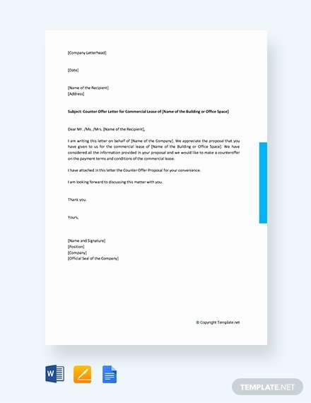 Commercial Lease Proposal Template Elegant 1712 Free Letter Templates