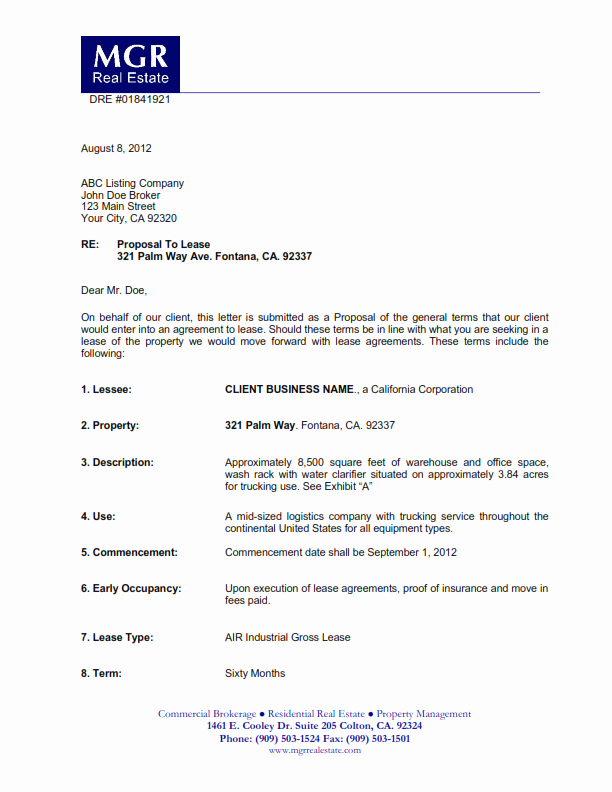 Commercial Lease Proposal Template Elegant Truck Yard for Lease Archives Mercial Real Estate