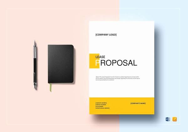 Commercial Lease Proposal Template Fresh 14 Sample Lease Proposal Letters Pdf Pages