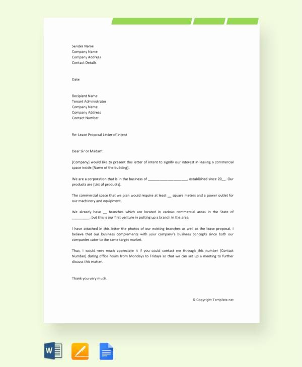Commercial Lease Proposal Template Lovely 14 Sample Lease Proposal Letters Pdf Pages