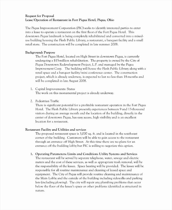 Commercial Lease Proposal Template New 9 Lease Proposal Templates for Restaurant Cafe & Bakery