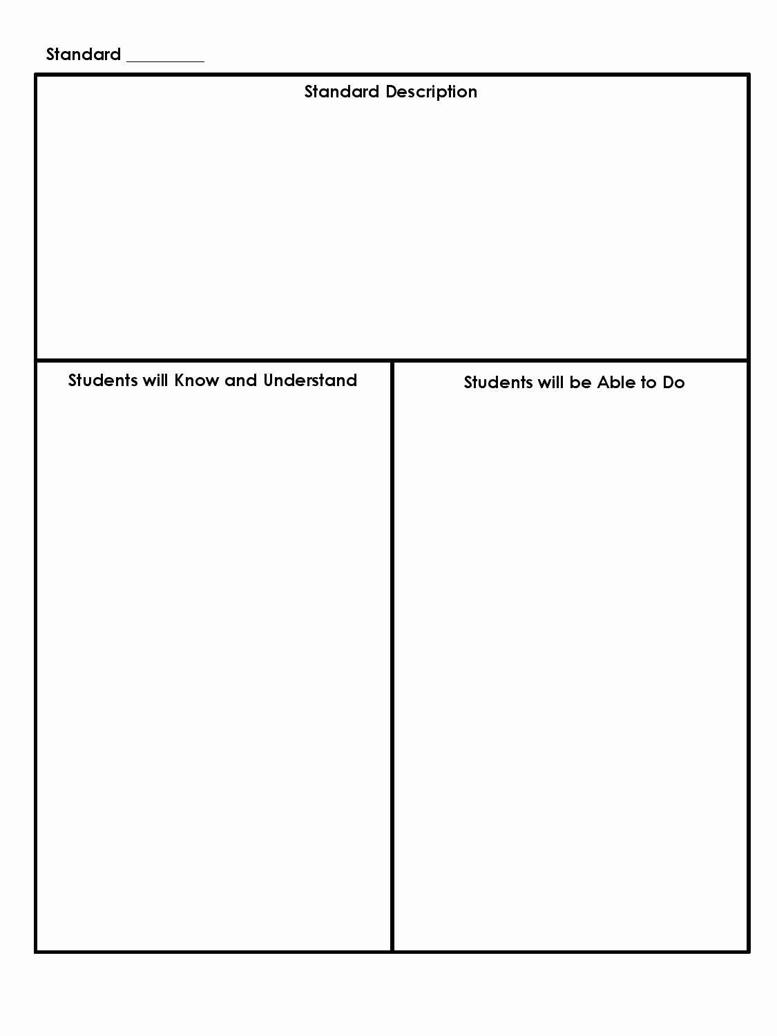 Common Core Lesson Plan Template Beautiful Mon Core Planning Template Simple Free Template