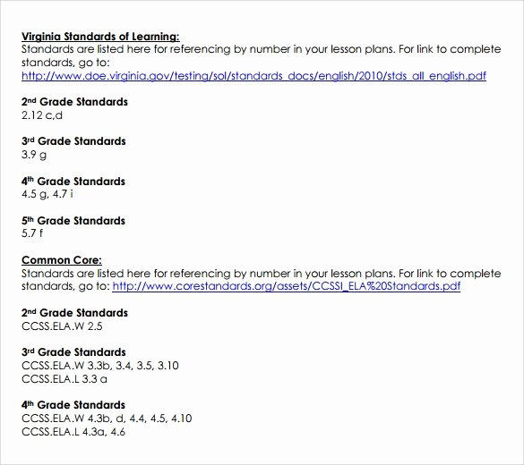 Common Core Lesson Plan Template Luxury Sammple Mon Core Lesson Plan – 9 Example format