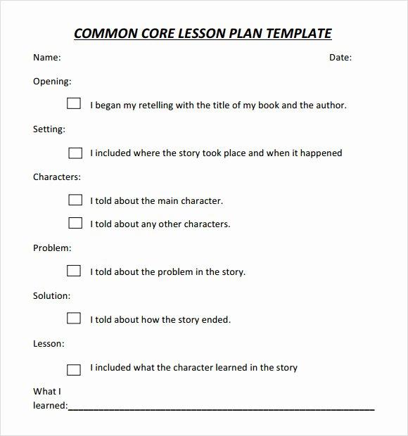 Common Core Lesson Plan Template New Free 7 Sample Mon Core Lesson Plan Templates In Google