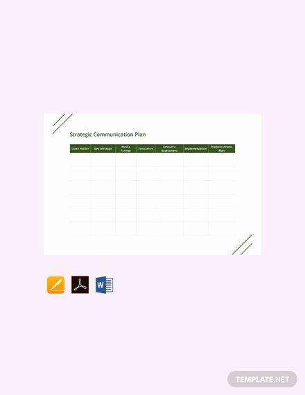 Communications Plan Template Word Beautiful Free Strategic Munication Plan Template Download 815