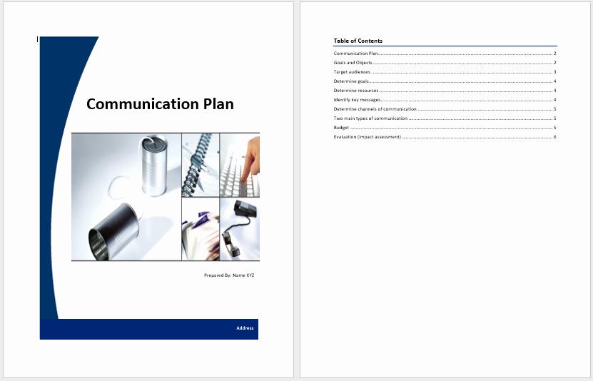 Communications Plan Template Word Elegant Munication Plan Template – Word Templates for Free Download