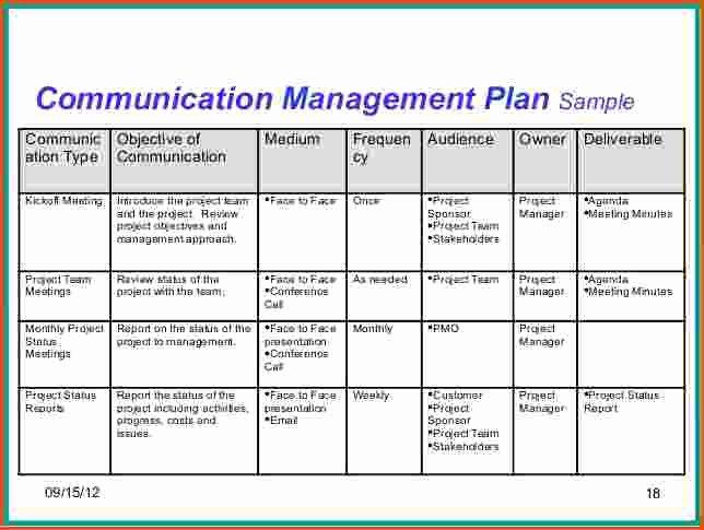 Communications Plan Template Word Fresh Project Munication Plan