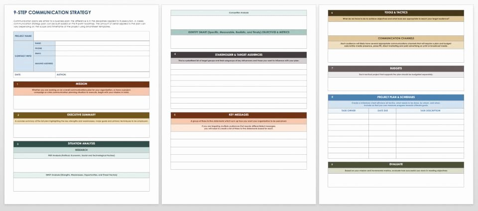 Communications Plan Template Word Inspirational Free Munication Strategy Templates and Samples