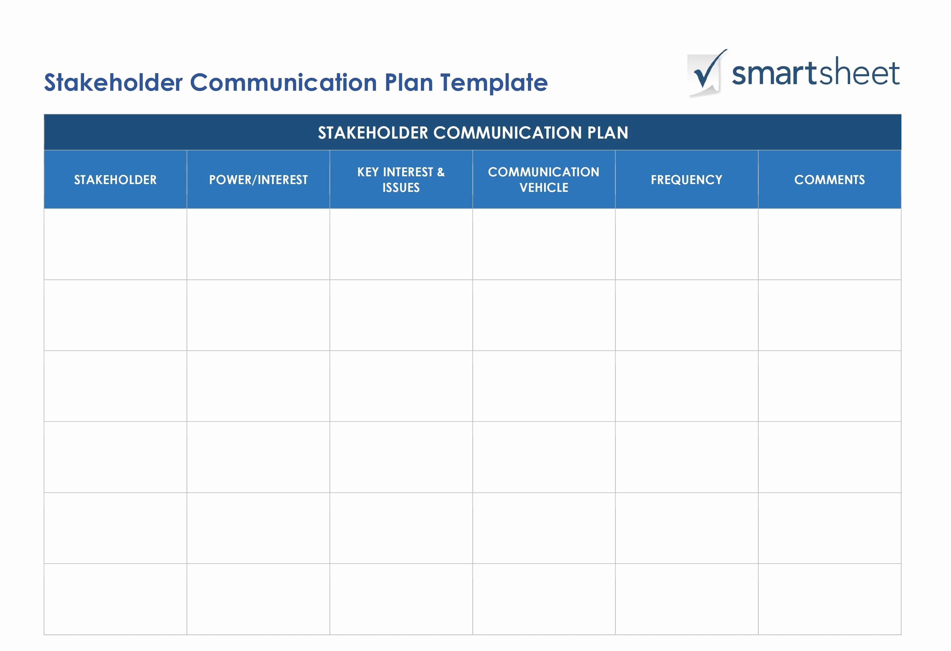 Communications Plan Template Word Lovely Free Stakeholder Analysis Templates Smartsheet