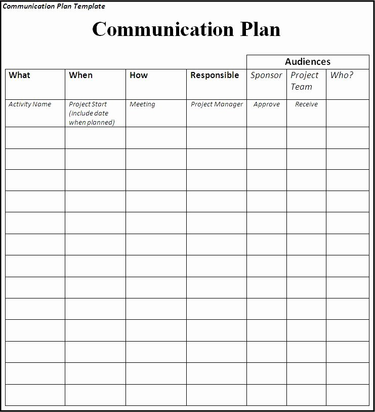 Communications Plan Template Word Lovely Munication Plan Template