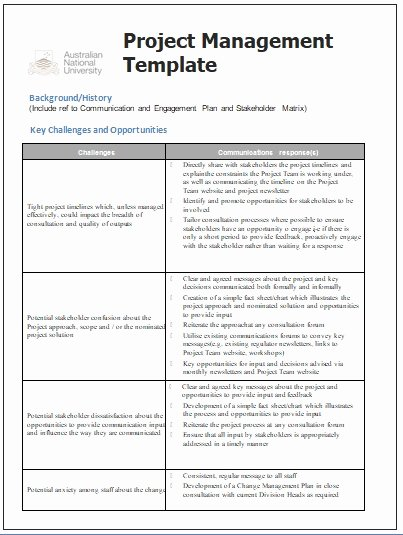 Communications Plan Template Word Luxury Project Management Templates
