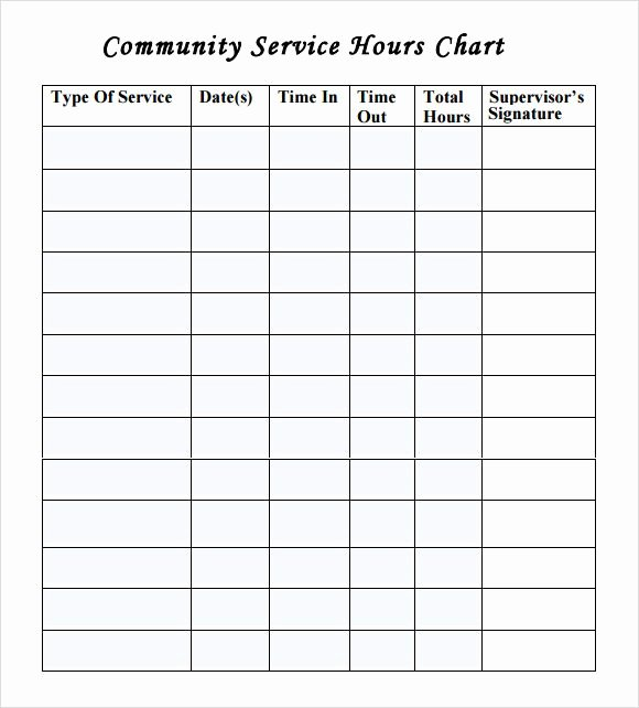 Community Service form Template Best Of Munity Service Time Sheet Template