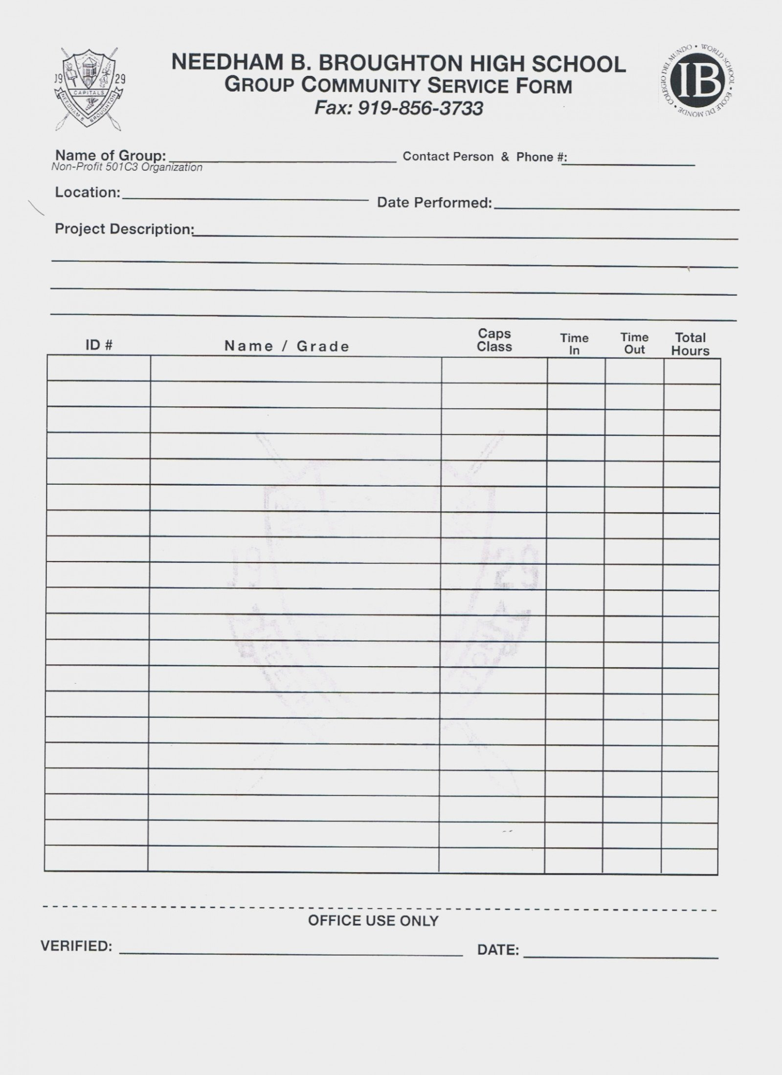 Community Service form Template Best Of What S so Trendy About Tn