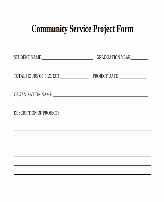 Community Service form Template Pdf Elegant 39 Service forms In Pdf Simple Munity Service
