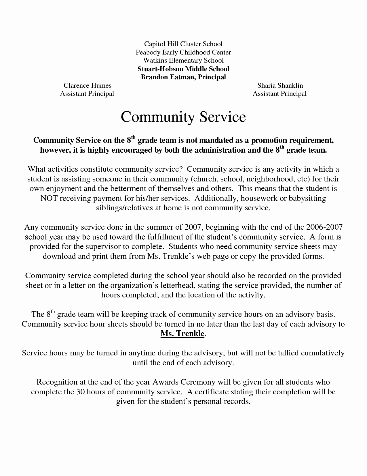 Community Service Letter Template Elegant Best S Of Example Munity Service Letters
