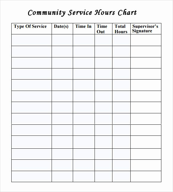Community Service Timesheet Template Elegant 12 Sample Volunteer Timesheet Templates Pdf Word