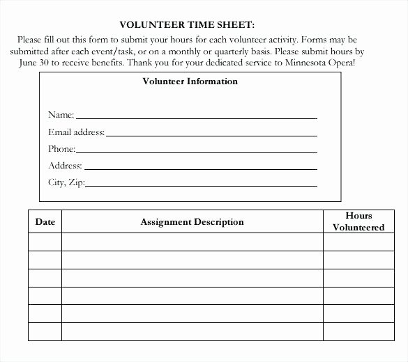 Community Service Timesheet Template Fresh Volunteer Blank Template Download In Worksheets4kids