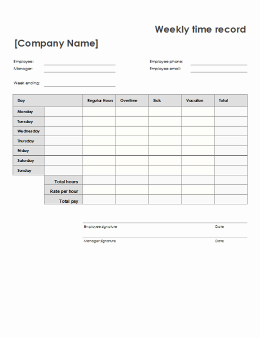 Community Service Timesheet Template Inspirational Weekly Time Sheet 8 1 2 X 11 Portrait