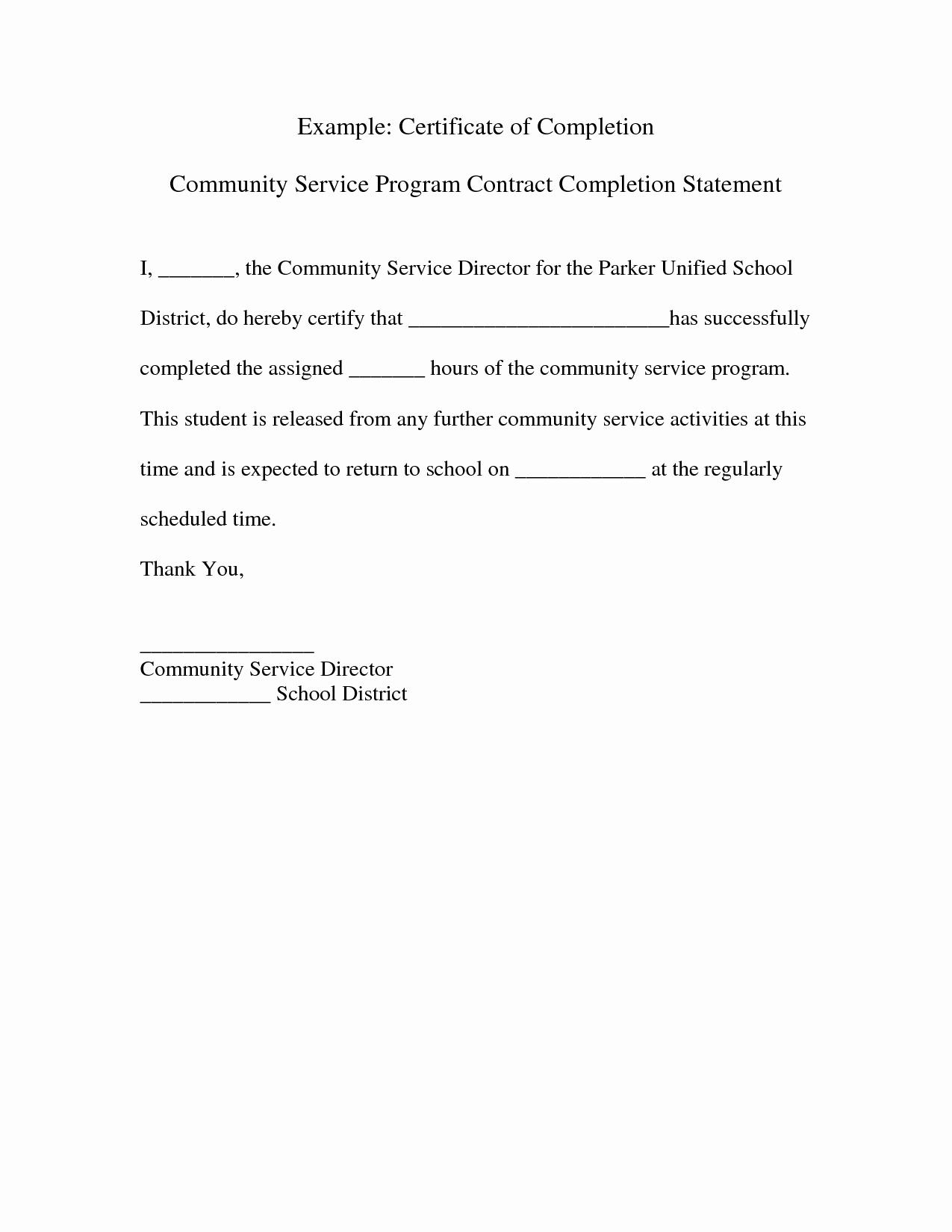 Community Service Verification form Template Unique Best S Of Example Munity Service Letters