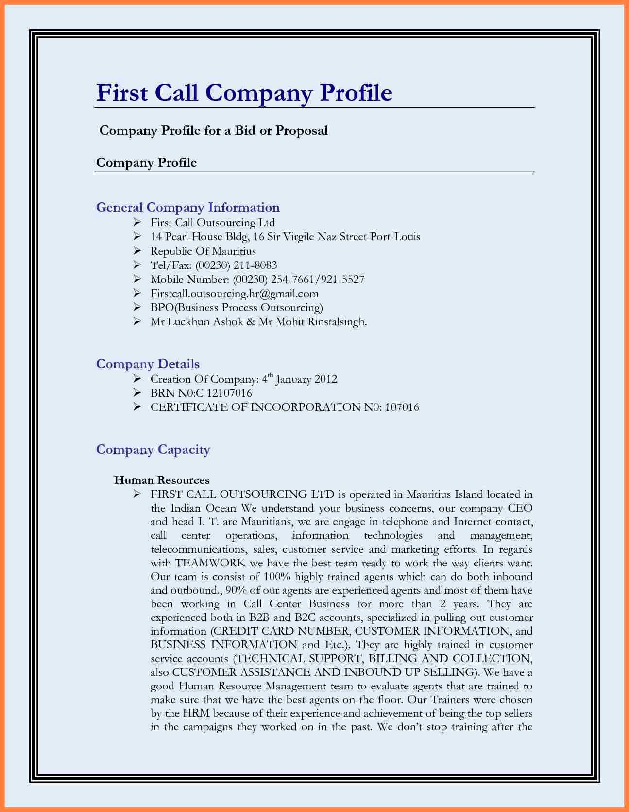 Company Profile Template Word Awesome 11 Best Pany Profile Template