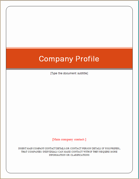 Company Profile Template Word Awesome Pany Profile Template
