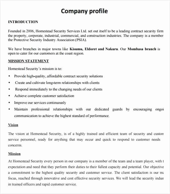 Company Profile Template Word Beautiful 32 Free Pany Profile Templates In Word Excel Pdf