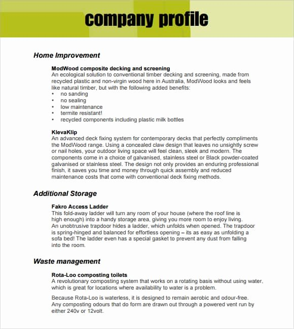 Company Profile Template Word Inspirational 32 Free Pany Profile Templates In Word Excel Pdf