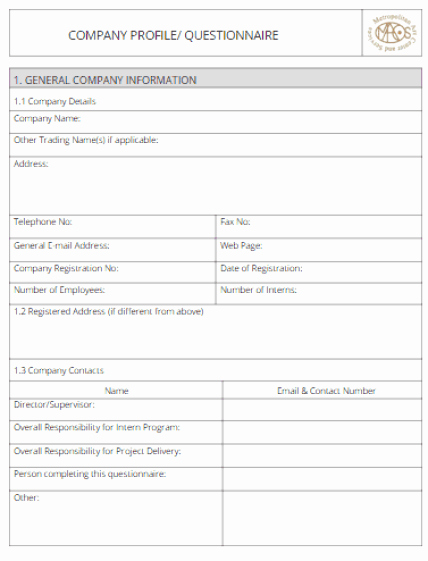 Company Profile Template Word Lovely 32 Free Pany Profile Templates In Word Excel Pdf