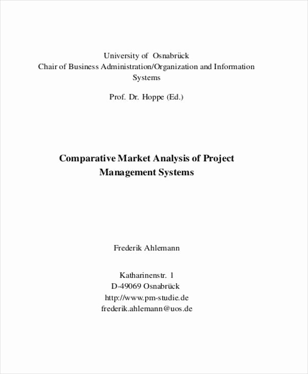 Comparative Market Analysis Template Fresh 40 Market Analysis Templates Pdf Word