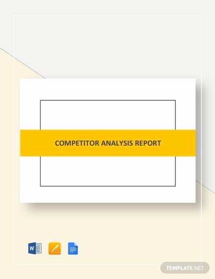 Competitive Analysis Report Template Beautiful Sample Petitor Analysis Report 8 Examples In Pdf