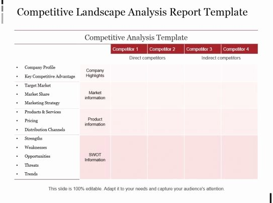 Competitive Analysis Report Template Lovely Petitive Landscape Analysis Report Template Example Ppt