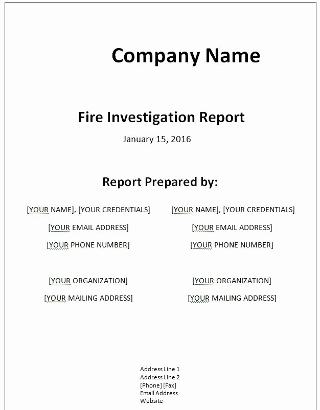 Computer forensic Report Template Luxury Fictional Report Writing
