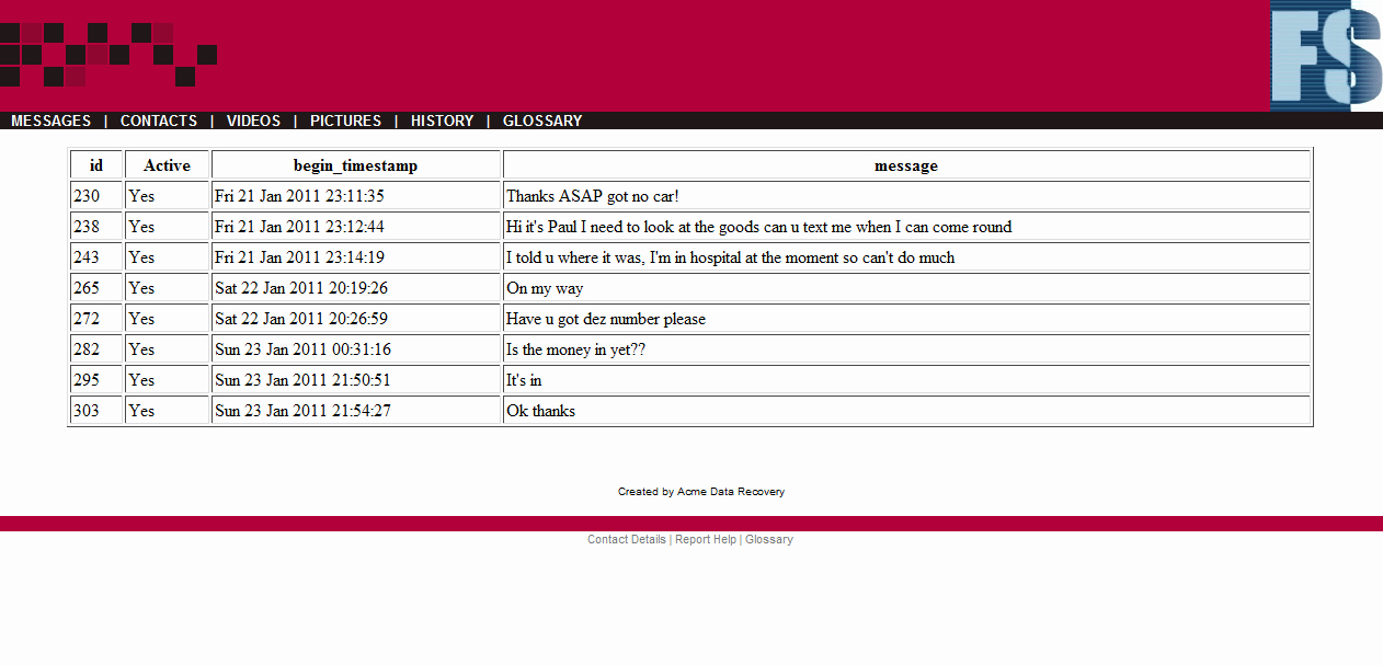 Computer forensic Report Template New Example Reports Gallery for Sqlite forensic Reporter