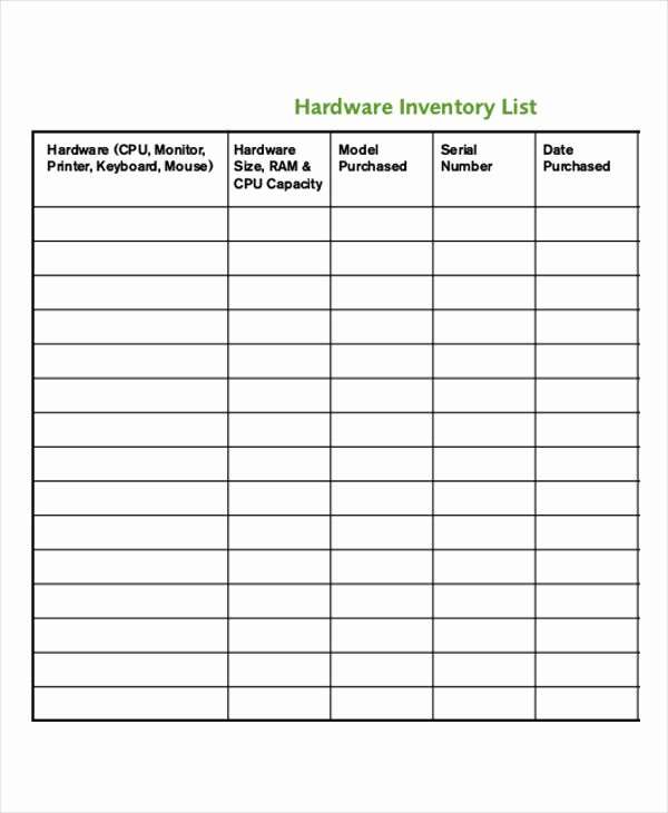 Computer Hardware Inventory Excel Template Beautiful It Inventory Templates 9 Free Word Pdf format Download