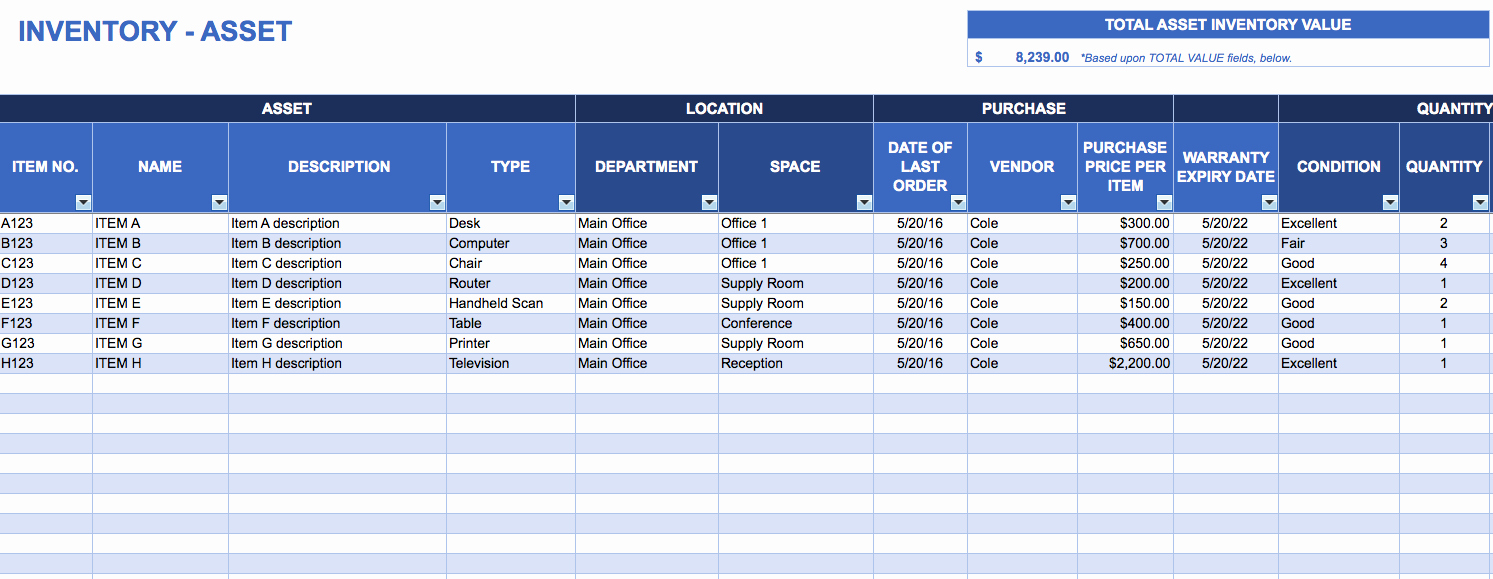 Computer Hardware Inventory Excel Template New asset Management Spreadsheet Template Management