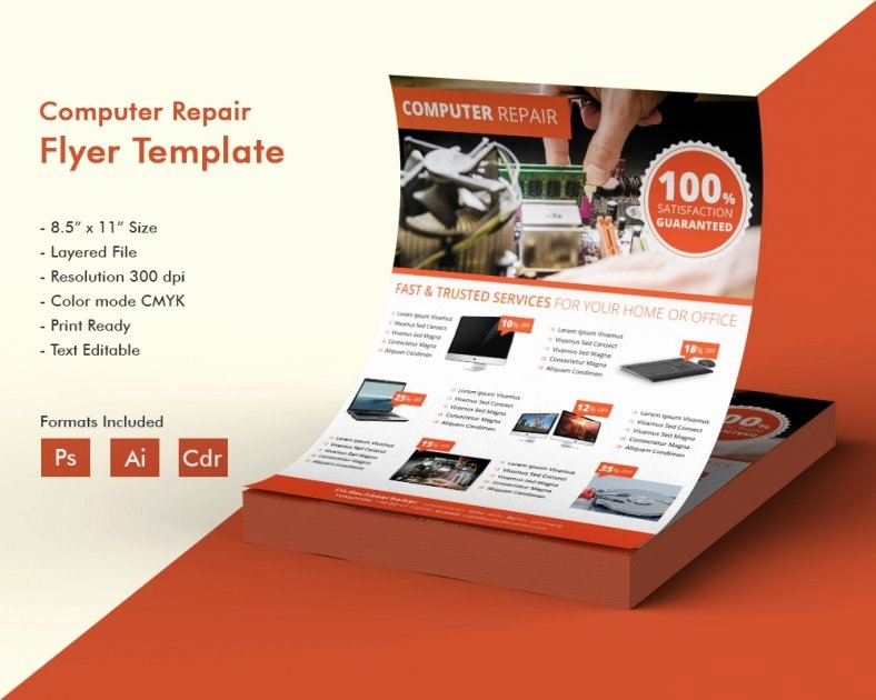 Computer Repair Flyer Template Beautiful Puter Repair Flyer Template – 21 Free Psd Ai format