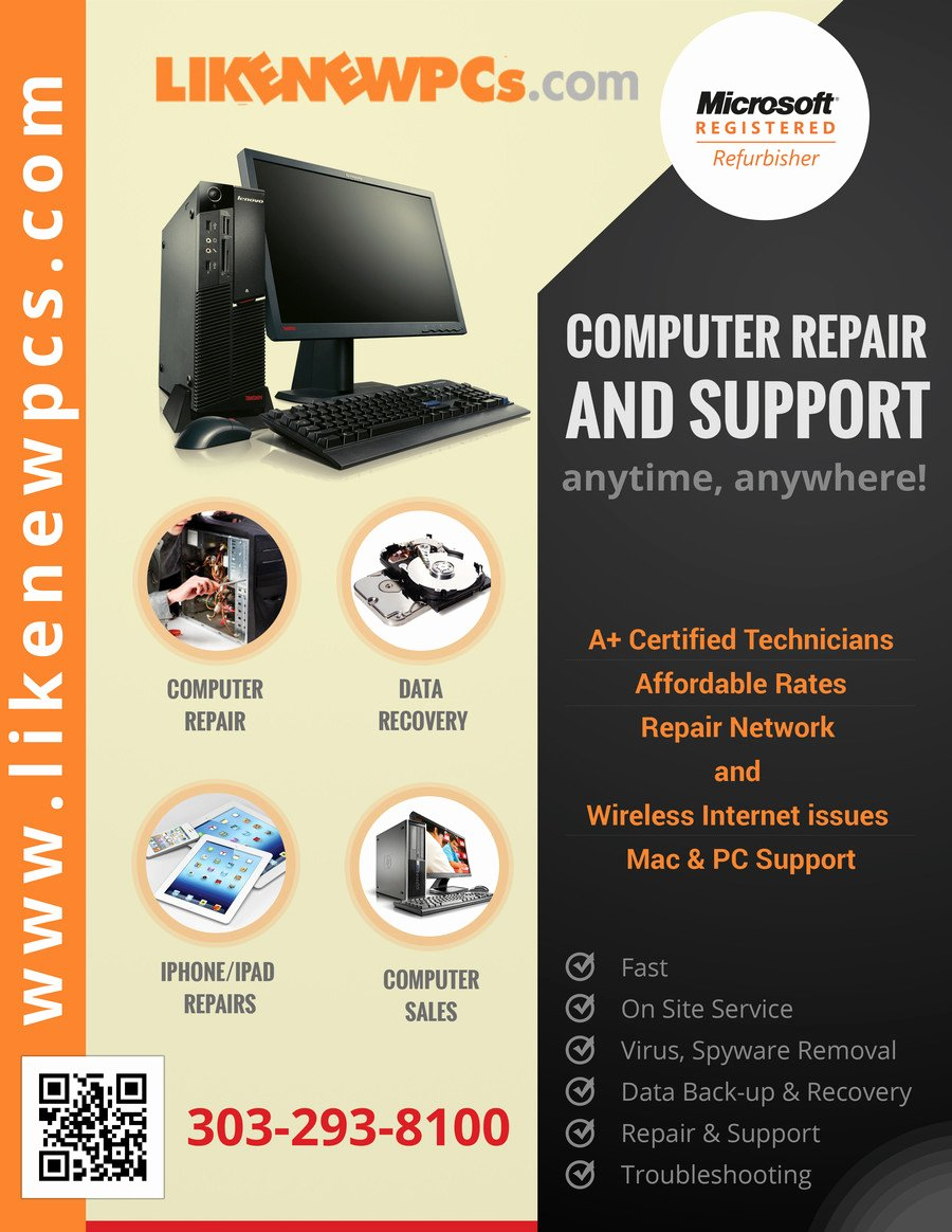 Computer Repair Flyer Template Fresh Design A Flyer for Puter Repair & Sales