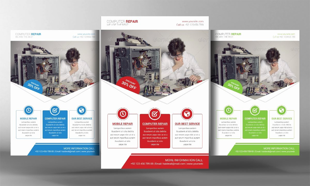 Computer Repair Flyer Template Luxury Puter Repair Flyer Template Flyer Templates