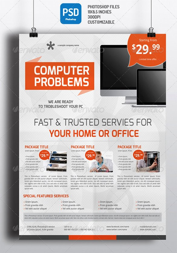 Computer Repair Flyer Template New 26 Puter Repair Flyer Templates Psd Ai Eps format